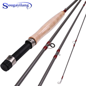 fly fishing rod 6 7 7 8 8 9 saltwater freshwater fly rod with a grade corkwood handle carp rod full aluminum reel seat Sougayilang 2.7M Fly Fishing Rod Line Wt 5/6 4 Section Fly Fishing Rod and Fly Reel Set Soft Cork Handle Fly Rod for Freshwater