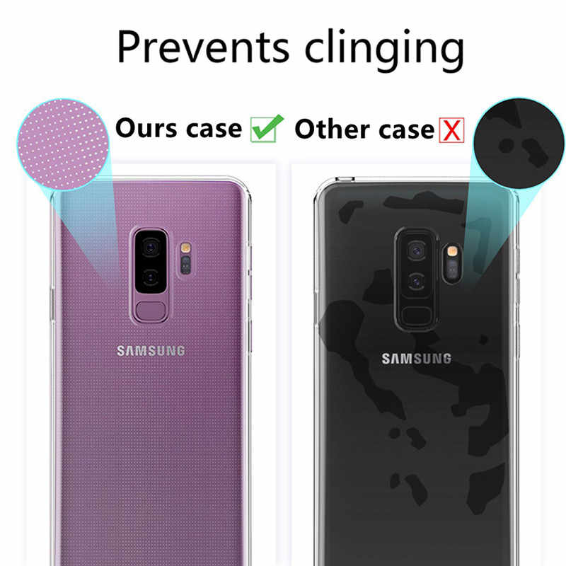 Clear Silicon Soft TPU Case Voor Samsung Galaxy S7 Rand S9 S8 S10 Plus lite S10e A50 A70 A40 A20 capinhas Transparant Cover Case
