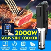 AUGIENB вакуумная медленная Sous Vide кухонная плита 2000 Вт 15л мощный погружной циркулятор машина цифровой таймер дисплей Нержавеющая сталь
