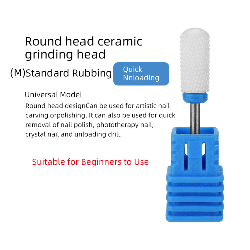 ATOMUS керамический сверло для ногтей Электрический фреза для ногтей для маникюра педикюра аксессуары для ногтей инструмент для удаления лака для ногтей - Цвет: Многоцветный