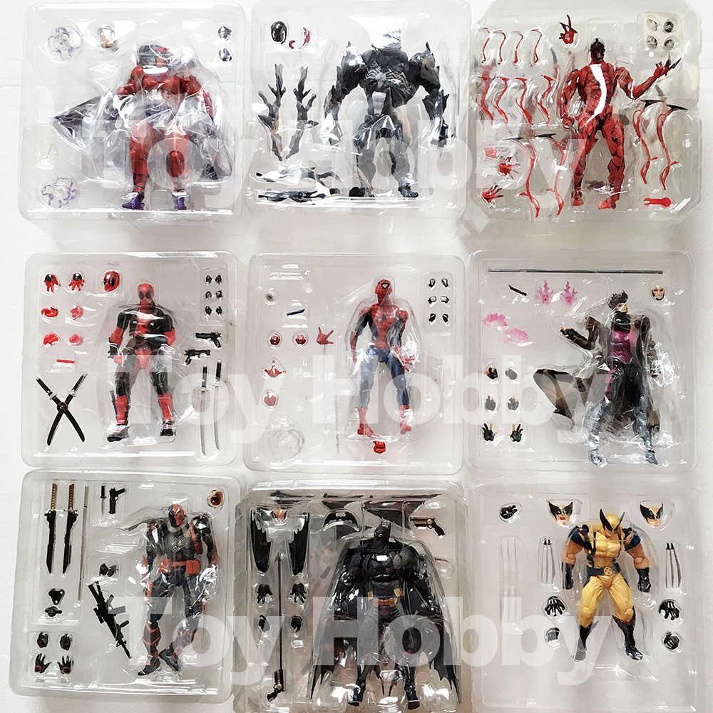 Marvel Revoltech İnanılmaz süper kahraman x-men Wolverine Logan Howlett PVC Action Figure oyuncak bebek noel hediyesi çocuklar için