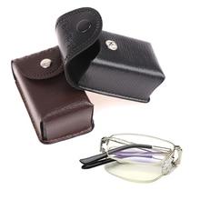 Bag Glasses-Box Case Presbyopic Protective-Leather Folding Soft Men Unisex Portable Women