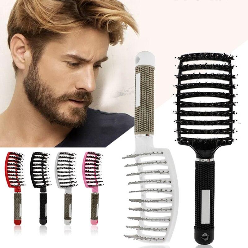 1 sztuk włosów grzebień masujący skórę głowy szczotka do włosów Nylon kobiety mężczyźni Wet Curly szczotka do rozplątywania włosów dla Salon fryzjerski antystatyczna