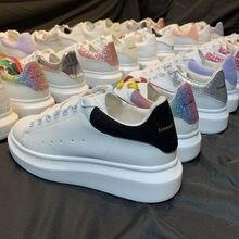 2021 plataformas zapatos mujeres zapatos grueso zapatillas mujer Zapatillas de deporte de moda nueva de tobillo blanco zapatos par Zapatos 34-44 plataformas