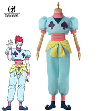 ROLECOS – Costume de Cosplay Hisoka Hunter X pour hommes, ensemble complet de chaussures, couverture pantalon et haut, pour Halloween
