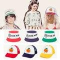 Детская летняя бейсболка EnkeliBB TAO, забавные кепки с оранжевым принтом фруктов, 2020, для мальчиков и девочек, повседневные модные детские кепки ...