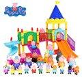 Пеппа свинка Джордж» семейство розовых свиней друзья игрушки куклы реальные модели парк развлечений дома ПВХ фигурки подарки на день рожде...