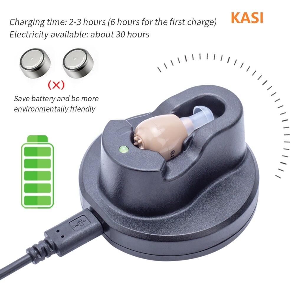 Aparelho Auditivo Recarregável - Amplificador Auditivo para deficientes auditivos 3