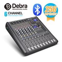 Profissional debra audio pro 6 canal com 256 dsp efeitos sonoros bluetooth studio mixer audio dj controlador de som interf|Equipamentos de DJ| |  -