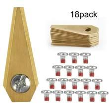 18 pçs robô cortador de substituição lâmina antiferrugem durável cortador para bosch ingo gramado robô lâmina do motor substituição lâmina