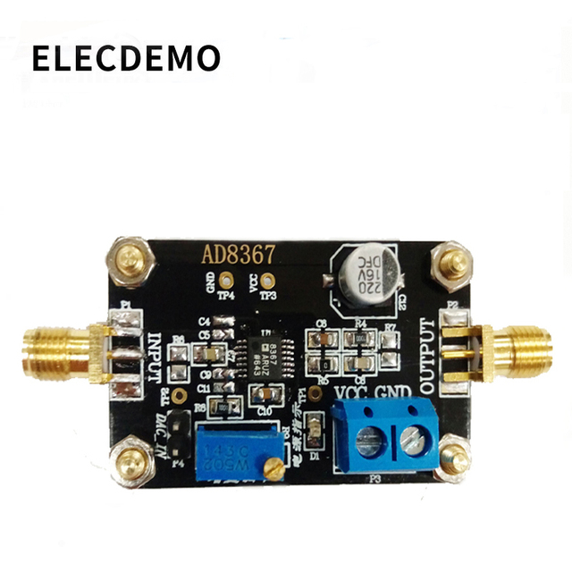 Модуль AD8367 усилитель с изменяемым коэффициентом усиления, полоса пропускания 500 МГц, 32 дБ усилитель усиления, Плата усилителя