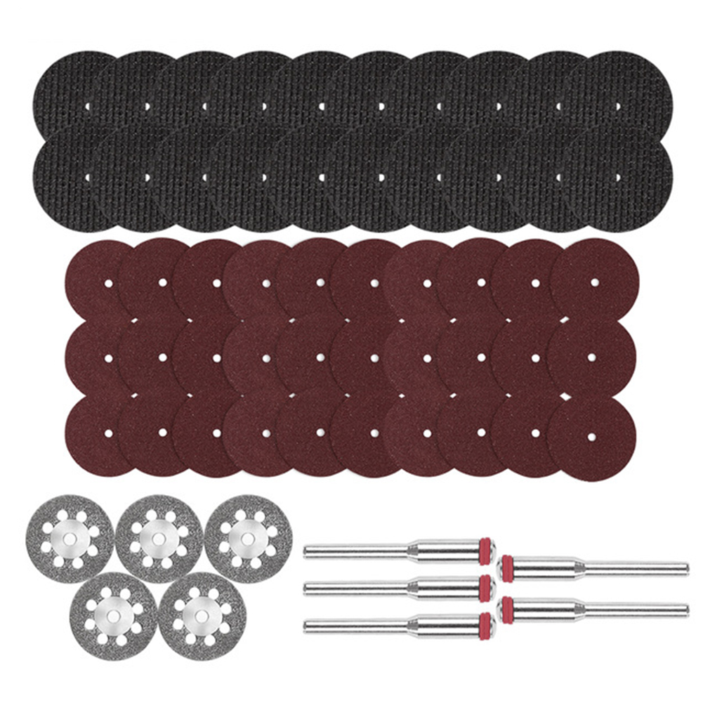 60pcs Mini Drill Accessories Sanding Woodworking Diamond Cutting Disc Grinding Wheel Rotary Tool Set Metal Practical Resin Sheet