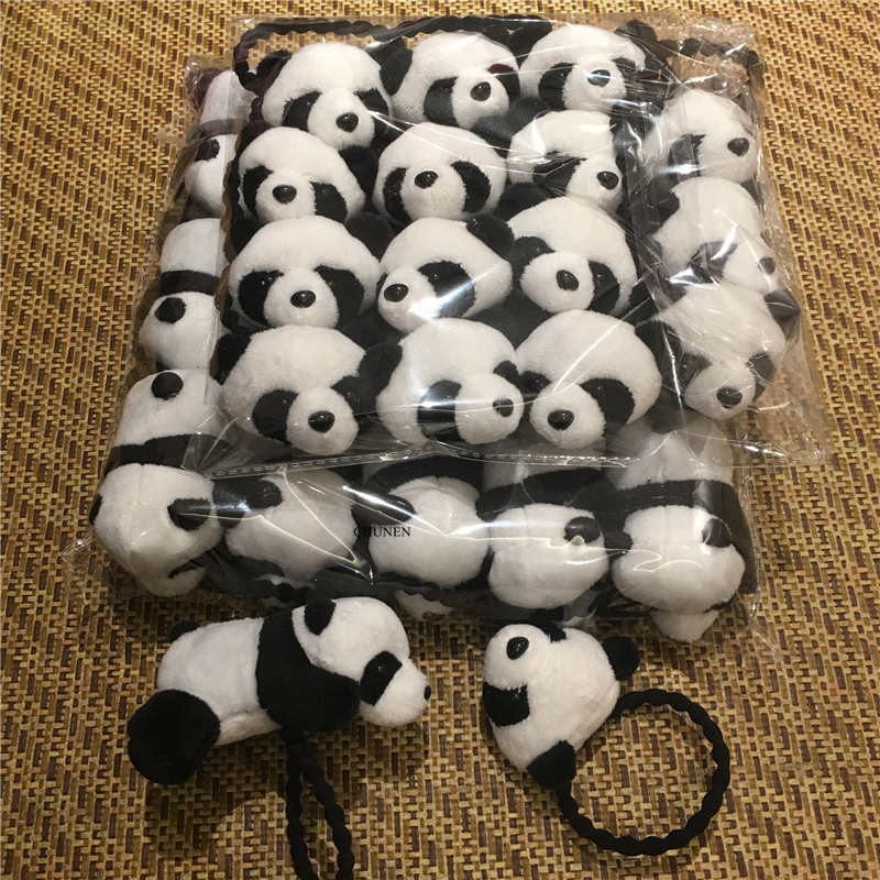 2Sizes Mini 4CM 9CM Plush Stuffed Panda TOY , Girl