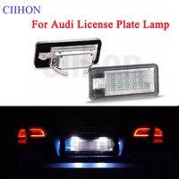 18 Canbus Nenhum Erro LED Licença Número Da Placa Da Luz Lâmpadas LED Para Audi A3 A4 A6 A8 B6 B7 S3 q7 RS4 RS6