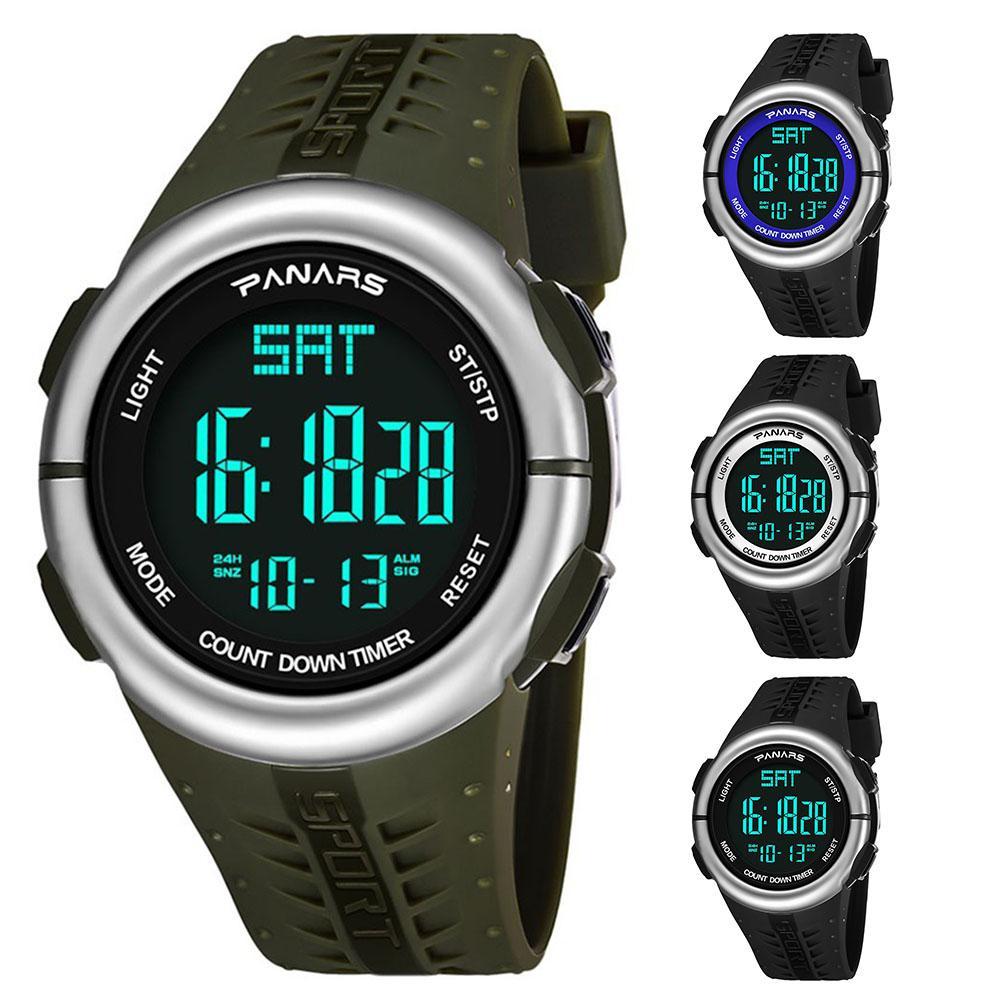 Fashion Waterproof Men Countdown Alarm Outdoor Digital Display Sport Wrist Watch NEW Mas-culino Fashion Men's Watch Large Dial M