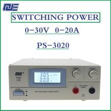 Qje ps3020 switch ajustável corrente constante e fonte de alimentação de tensão constante 0 30 v 0 20a alta precisão ajustável supp