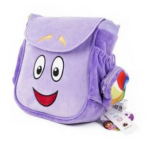Véritable 26cm Dora l'exploratrice sac à dos bottes Swiper Tico Isa fille maternelle sac en peluche pour enfants, avec carte 3 pièces étoiles