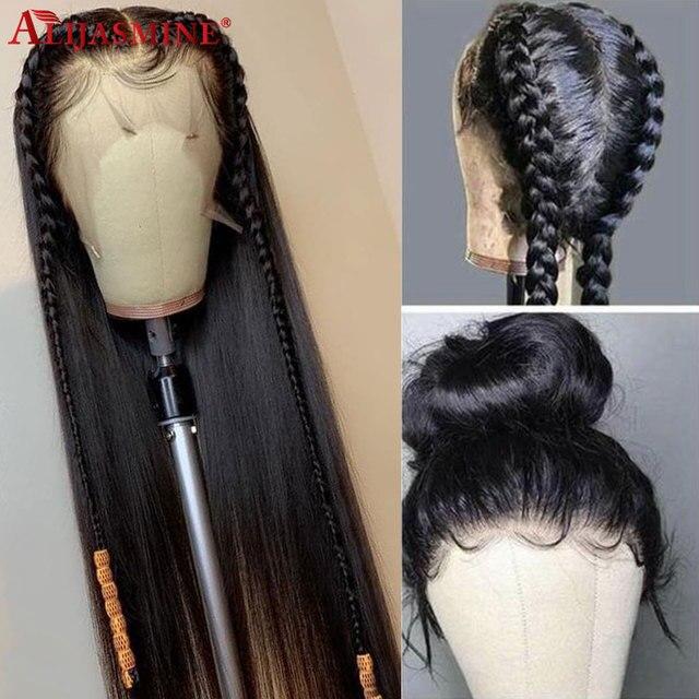 130 150 gęstość przejrzyste koronki kolor Glueless Full HD peruki typu Lace z ludzkich włosów dla kobiet brazylijski Remy włosy wstępnie oskubane z dzieckiem włosy