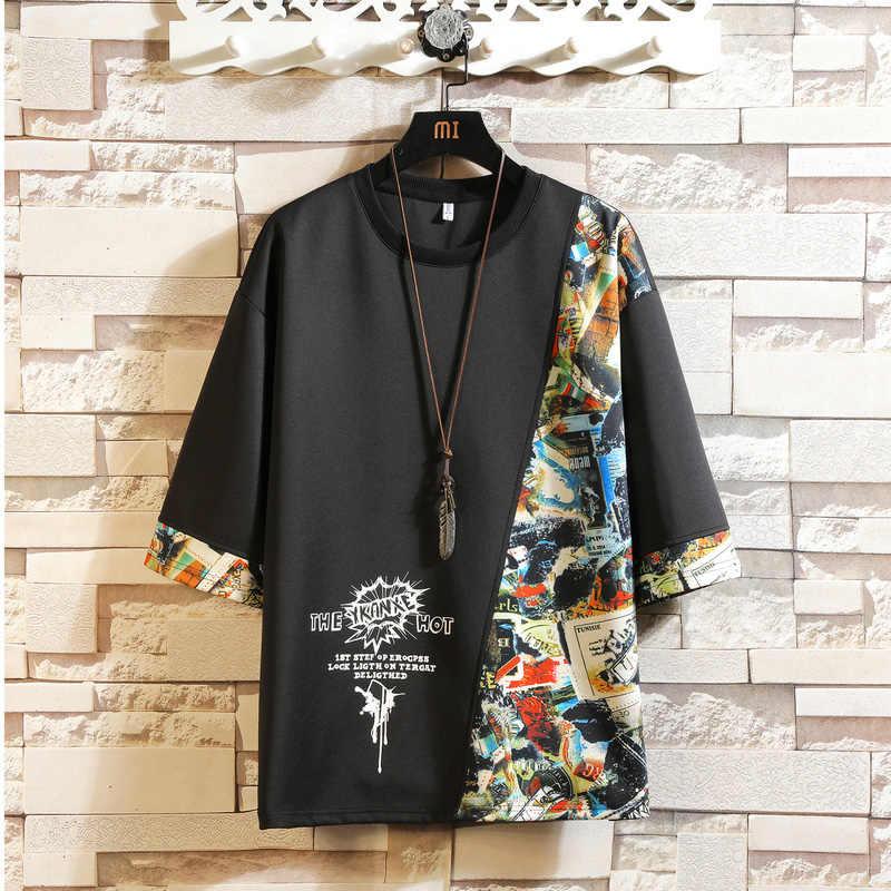 Korte Mouw T-shirt Mannen 2020 Zomer Hoge Kwaliteit Tshirt Top Tees 3D Print Brand Fashion Kleding Plus Size M-5XL 6XL 7XL O Hals