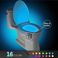Smart Motion Sensor Toilet Seat Night Light 8/16 Colors Waterproof Backlight For Toilet Bowl LED Luminaria Lamp WC Toilet Light|Home Automation Modules| |  -