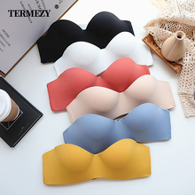 TERMEZY Super soft Bras for Women Push Up Lingerie Seamless Bra Wire Free Bralette Sexy Gathering Invisible Underwear Intimates