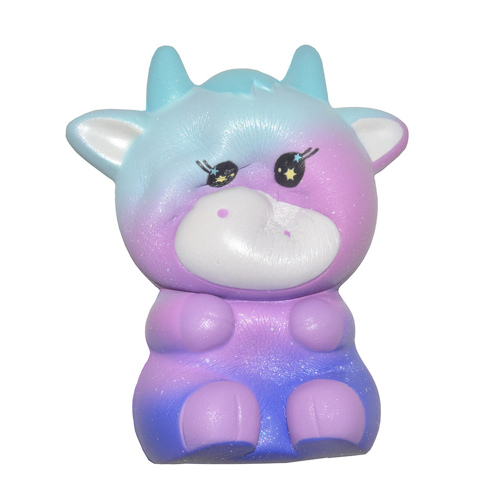 New Cute Cow Squishy Simulation Cream Scented Slow Rising Soft Squeeze Toy Stress Relief Novelty Fun For Kid Gift L1223