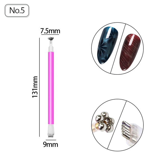 Cat Eye Magnet Nail Art Magnet Stick for Nail Gel Polish 3D Line Strip Effect Strong Magnetic Pen Tools for Gel Varnish 3