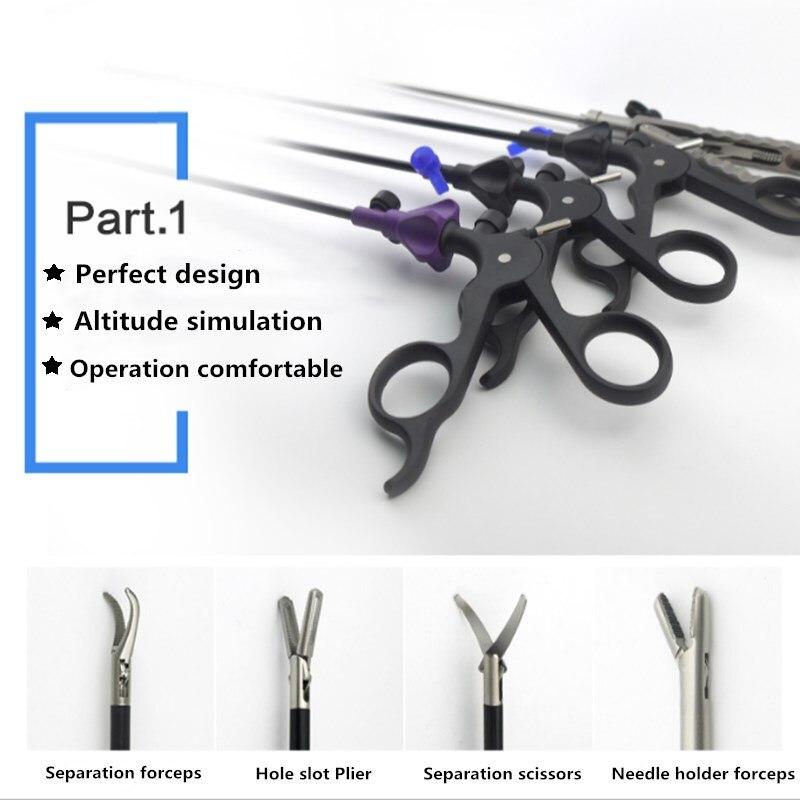4pcs/set V-shaped Laparoscopically Simulation Training Equipment Laparoscopic Surgery Practice Tool Education Practice