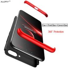 3-in-1 Glass Film + Armor Case Honor 8 A 7A 7C Pro 360 Hard PC Anti-Shock Bumper Cover Honor7C AUM-L41 8A Original