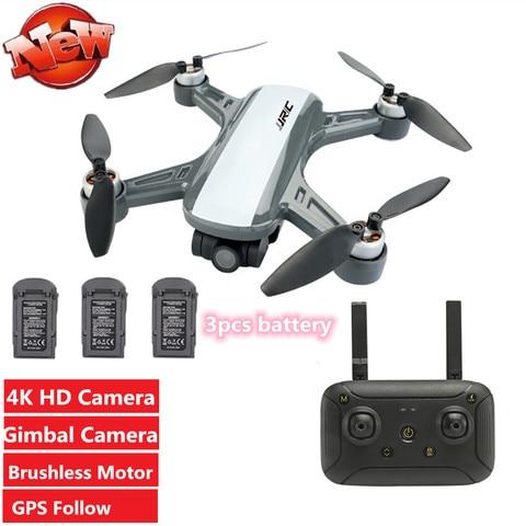 wifi fpv com 4k hd cardan camera modo de espera braco dobravel rc quadcopter posicao