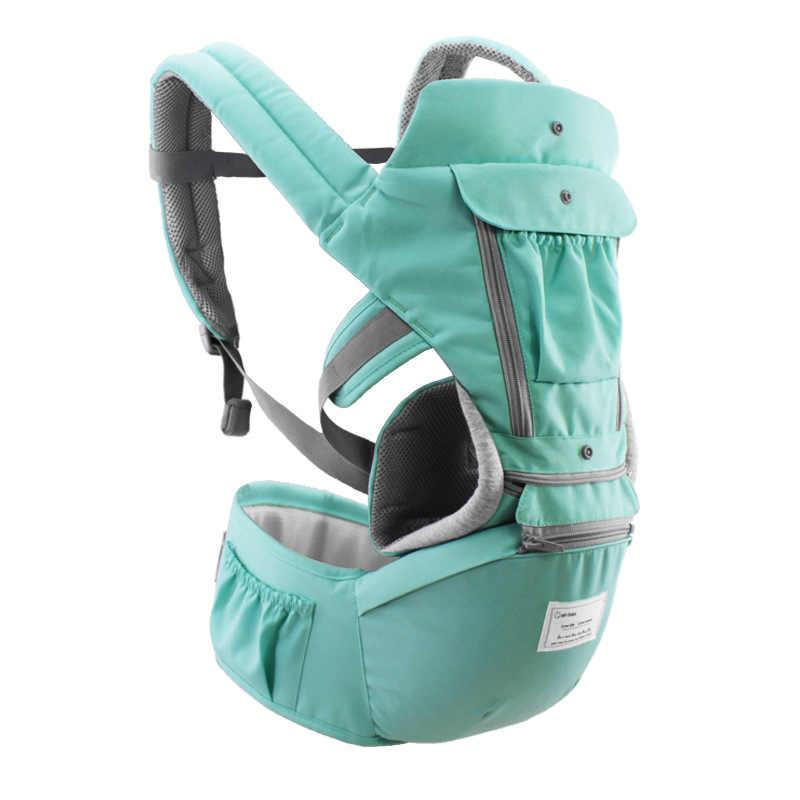 Aiebao Ergonomis Bayi Carrier Bayi Anak Bayi Hipseat Gendongan Depan Bayi Kanguru Wrap Carrier untuk Bayi Perjalanan 0- 36 Bulan
