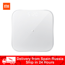 Xiaomi Mijia Mi balance de poids intelligente 2 balances de salle de bain numérique électronique perdre du poids Bluetooth Fitness écran LED Mifit APP
