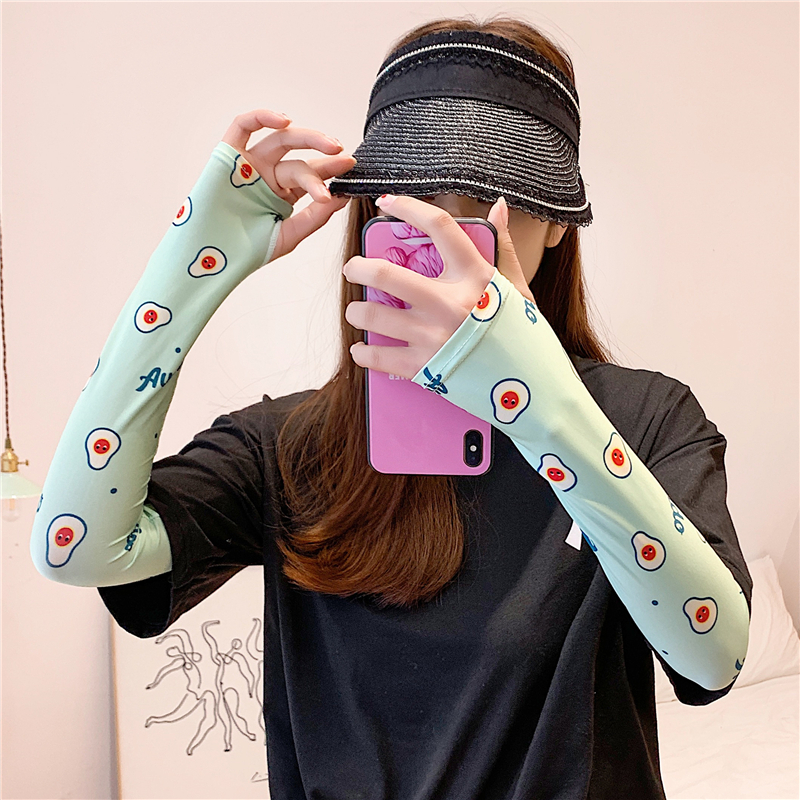 2020 Lady Arm Sleeves Gloves Sunscreen Wraps Ice Silk Breathable Sun Protection Warmers Outdoor Sports Women Arm Sleeve Wrap