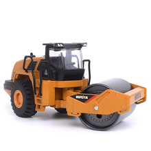 1/50 Scale Grab Model wheel Type Loaders Alloy Diecast Road Roller Construction Truck Model Education Kids Toy 112