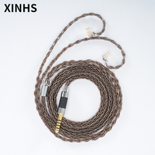 สายหูฟัง8 CoreเงินชุบทองแดงHIFIหูฟังอัพเกรดขั้วMMCX/0.78Mm 2Pin/QDC/TFZหูฟังลวด