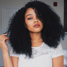 U Part Wig Human Hair Kinky Curly Wigs 180 250 Density Glueless Pre Plucked Brazilian Remy U Part Wigs For Women Natural Color(China)