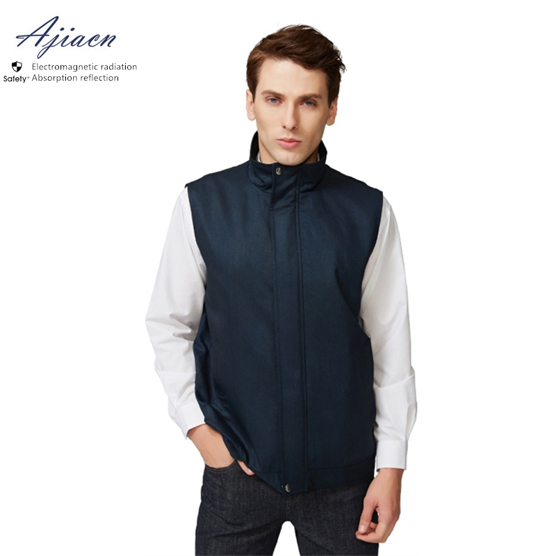 Ajiacn Anti-radiation Invisible Zipper Vest Bank Radio And Television Food Processing Practitioners EMF Shielding Clothing