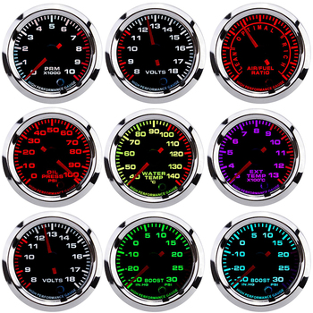 7 Colors Oil Pressure Gauges Turbo Boost Gauge Oil Temp Water Temperature Meter With Sensor for Car Racing fuel meter 52mm auto 7 colors oil pressure gauges turbo boost gauge oil temp water temperature meter with sensor for car racing fuel meter 52mm auto