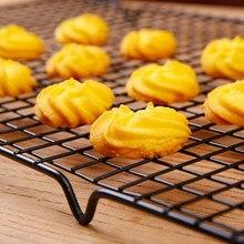 Anti-aanbak Metalen ciasto Koelrek Netto pliki cookie Koekjes potomstwa babeczki Drogen stojąca chłodziarka uchwyt na Keuken Bakken narzędzia
