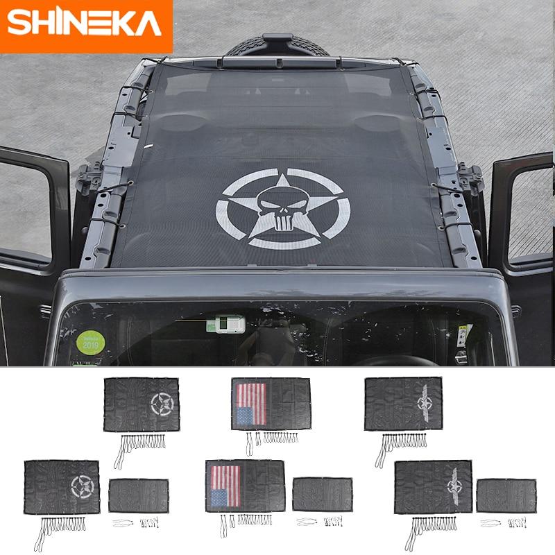 SHINEKA Sunshade Sun-Protect Wrangler Jl Insulation-Net Car-Trunk Roof-Roof Jeep Mesh