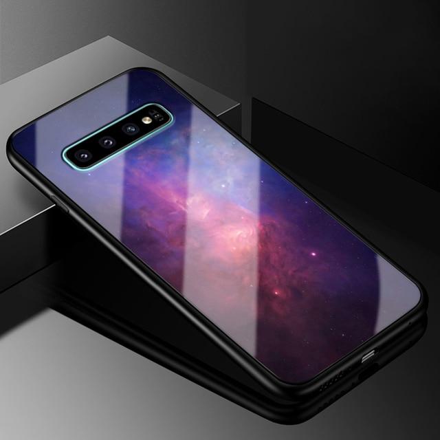 Pour Samsung Galaxy S9 S8 Plus S7 Edge coque de téléphone en verre noir pochette de protection en polyuréthane thermoplastique couverture pour Samsung Galaxy Note 8 S8 S6 edge PC dur