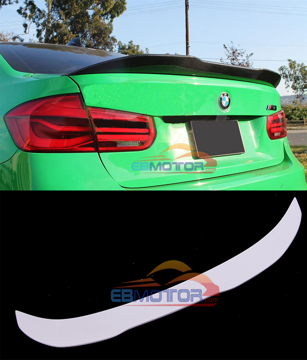UNPAINTED GTX Real Fiber Glass Trunk Spoiler for BMW F30 F80 M3 B432F image