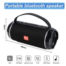 TG116C 40W Outdoor Portable Wireless Bluetooth Speaker HighPower Bar Sound Column Subwoofer Music Center BoomBox 3D Stereo Radio