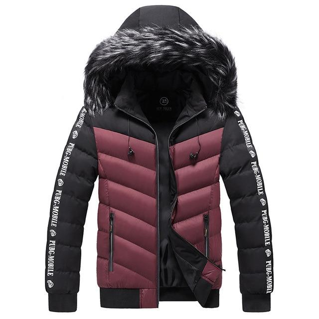 Winter Jacket Men 2021 Fur Collar Hooded Thick Warm Cotton Outwear Man Patchwork Parka and Coats Windbreaker Parkas Male M-5XL 3