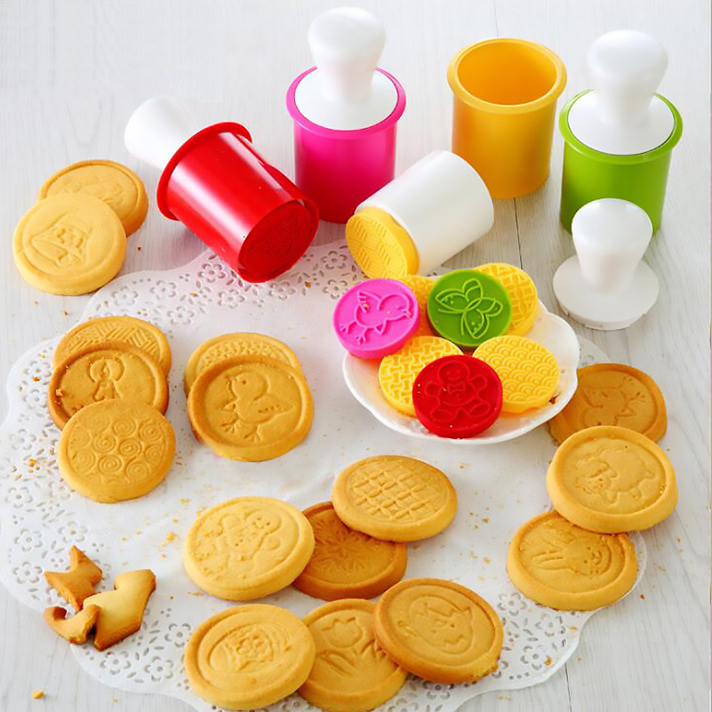 Silicone Cookie Stamps Set