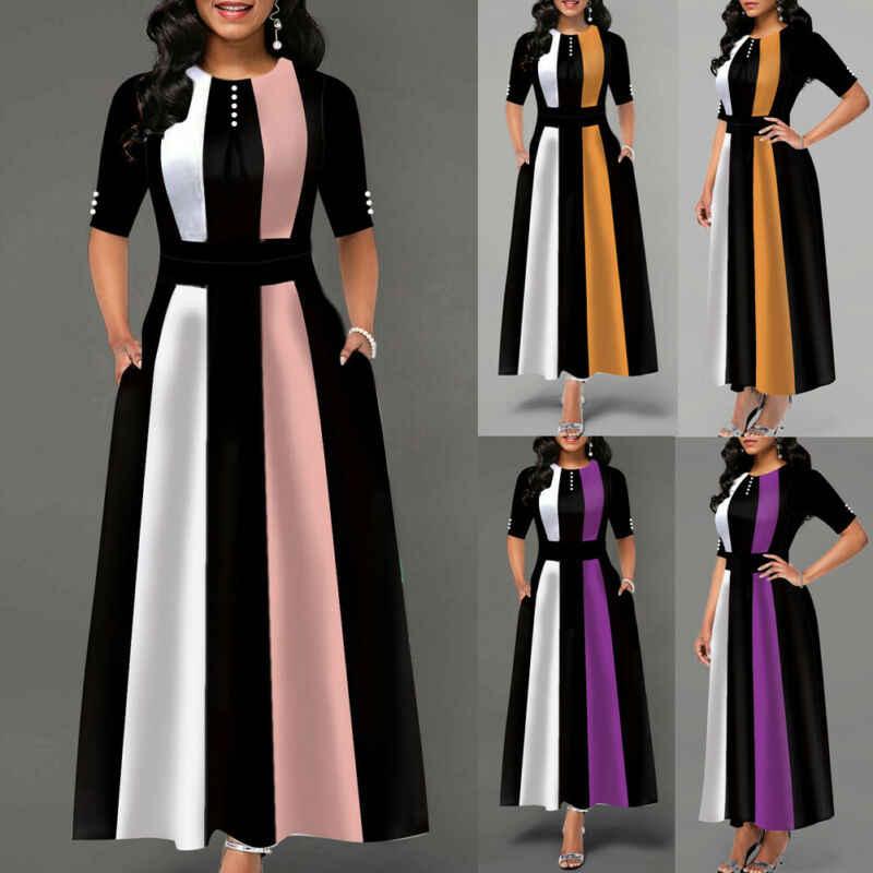 Sukienka vintage Hot 2019 kobiet rozciągliwy pasiasty pakiet bandażowa sukienka dziewczyny klubowa sukienka długa, maksi ciepła zimowa sukienka
