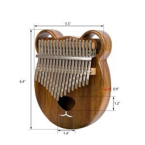 Image 5 - Aklot 17 Schlüssel Kalimba Daumen Klavier Massivem Nussbaum Holz Marimba Kit mit Sticks Fall Tasche Tuning Hammer Booklet Voller Zubehör