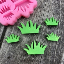 Silicone Mold Lace-Mat Cake-Decorating-Tool Fondant-Mould Kitchen-Accessories Grass Chocolate