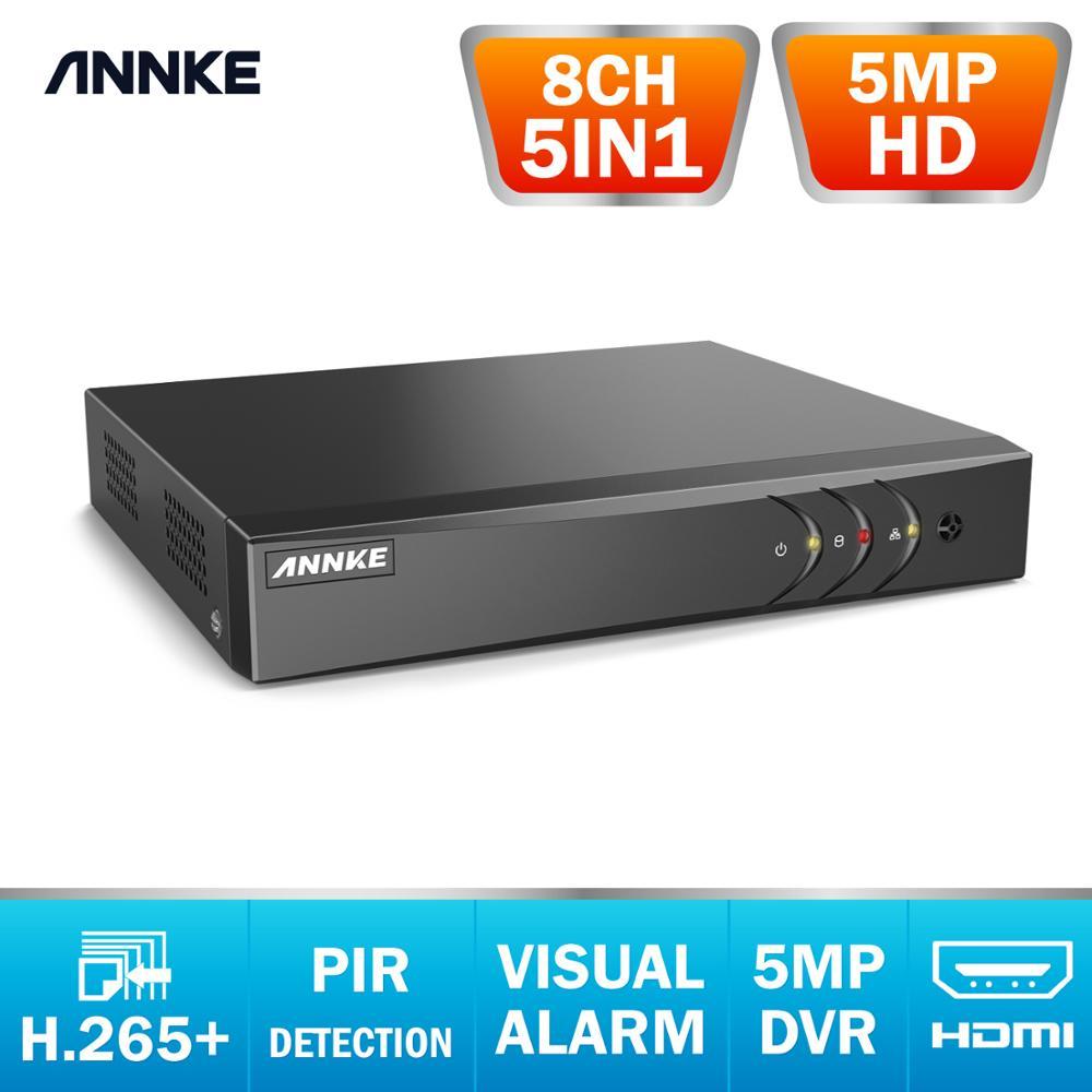 ANNKE H.265+ 5MP HD 8CH CCTV Surveillance DVR 5IN1 Digital Video Recorder PIR Motion Detection For 2MP 3MP 5MP Analog IP Camera