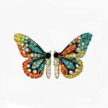 Girls Palace Crystal Earring Sweet Butterfly Retro Shiny Earrings Lovely Wedding Earrings For Women